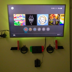 Wall-Mounted Nintendo Switch